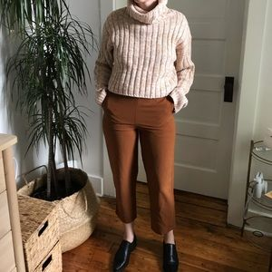 RUST COLORED SLACKS CROPPED SIZE SMALL